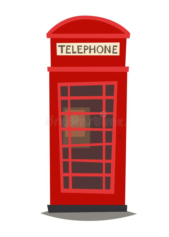 London phone booth vector Illustration stock illustration