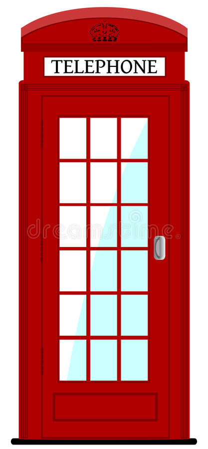 London phone box. Vector illustration, eps10 royalty free illustration