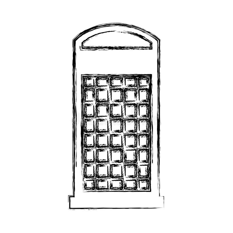 London phone cab isolated icon. Vector illustration design stock illustration