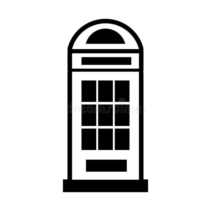 London phone cab isolated icon. Vector illustration design royalty free illustration