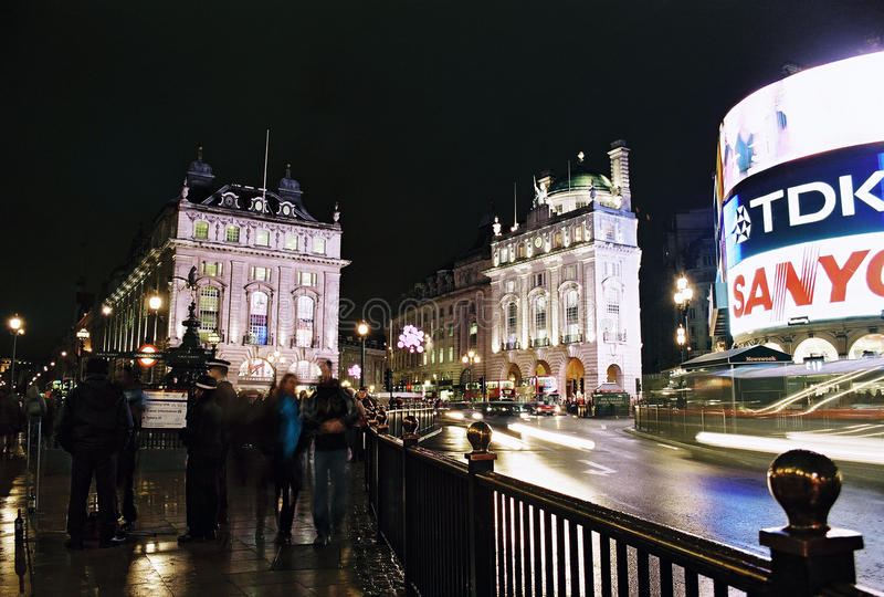 London, Picadilly Circus at night royalty free stock image