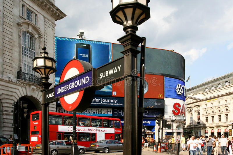 Download London, Piccadilly Circus editorial photo. Image of underground - 17428256