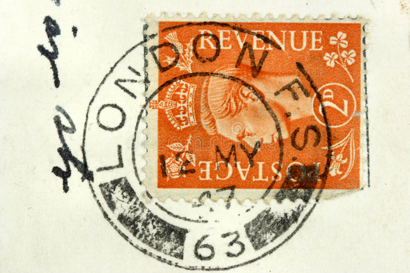 London post stamp royalty free stock image