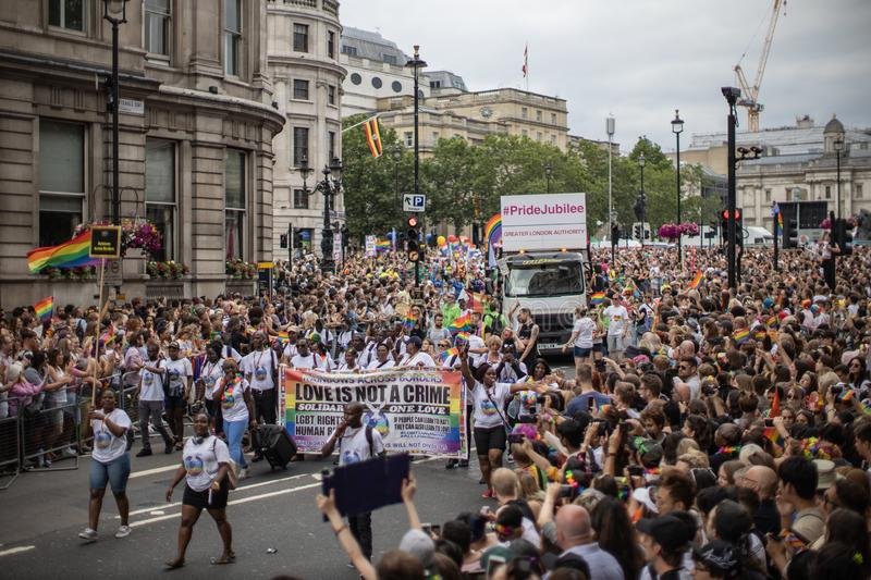 London Pride 2019 royalty free stock photo