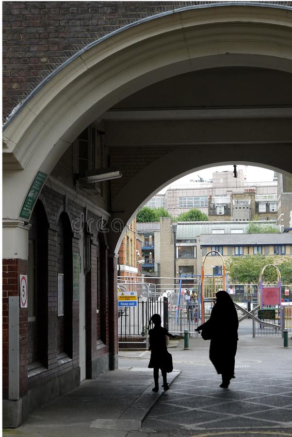 London: public housing mother and child royalty free stock photos