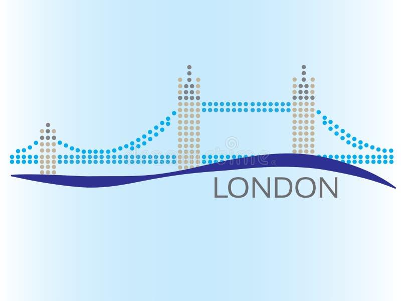 London punktierte Bild stock abbildung