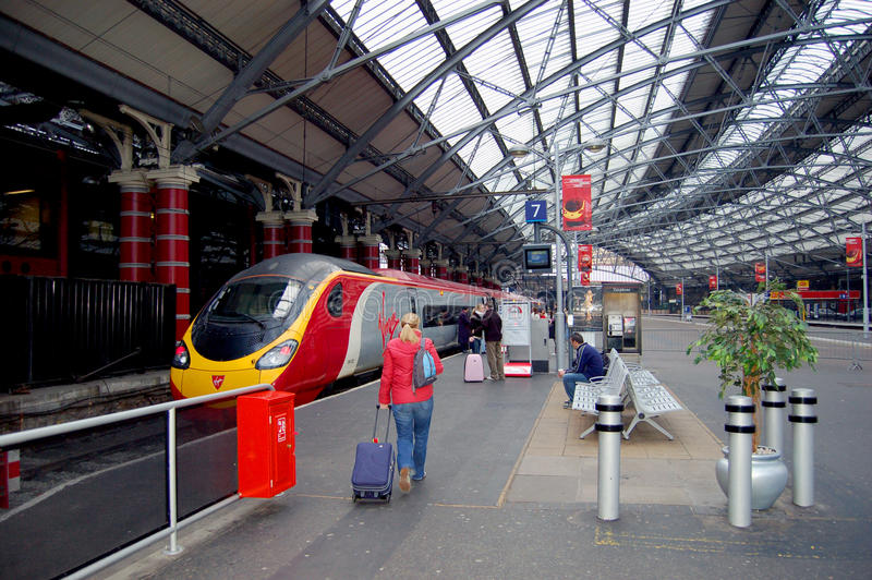 London Railway Station and Train stock images