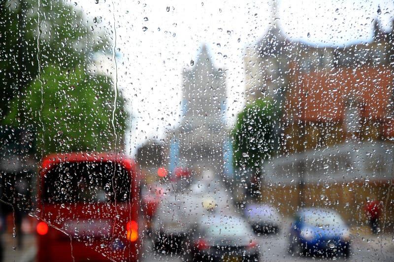 London Rain Stock Images