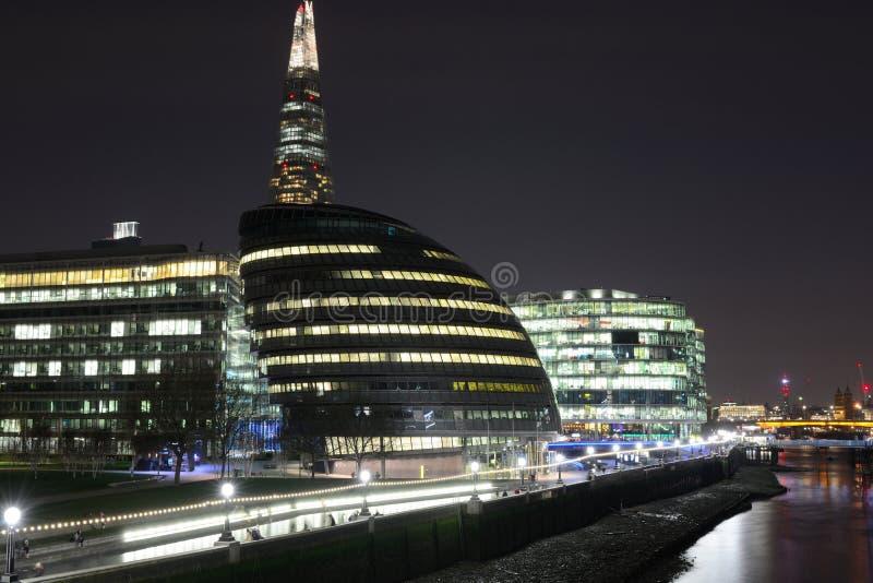 London-Rathaus nachts stockfotografie