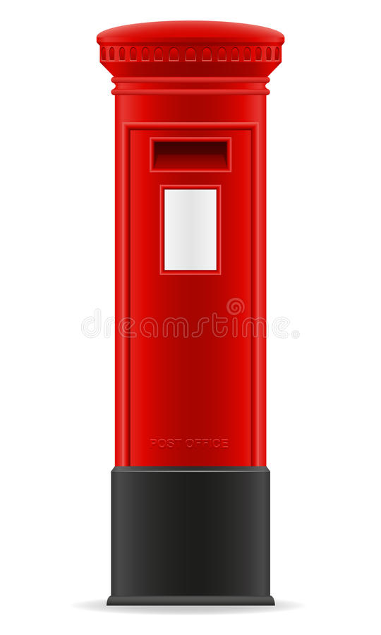Free London Red Mail Box Vector Illustration Stock Photography - 53741322