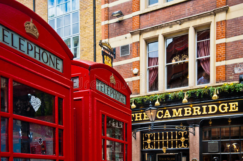 Download London Red Telephone Booth editorial stock image. Image of wall - 27097509