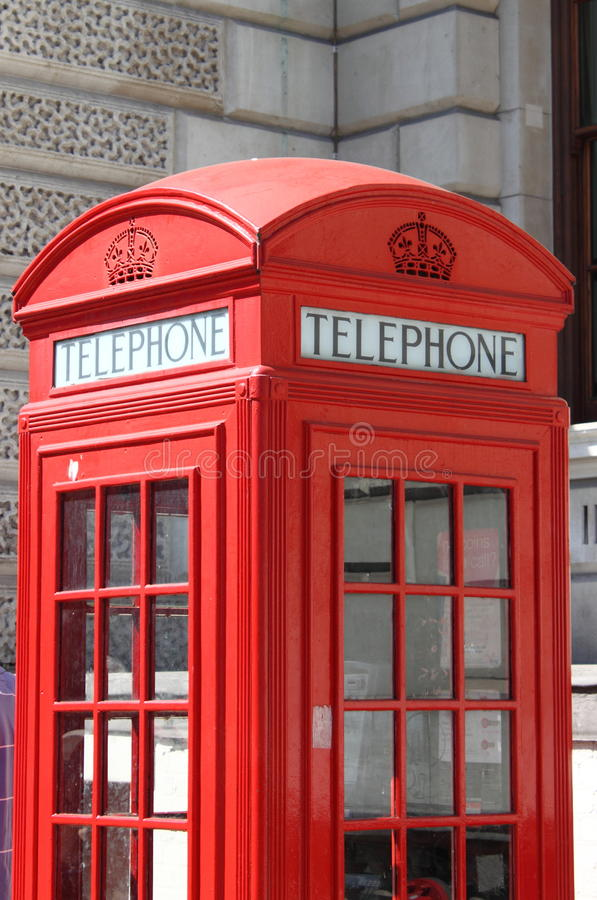 London red telephone box stock images
