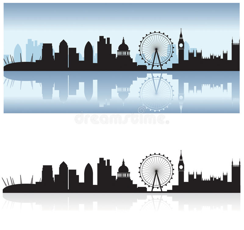 london reflexionshorisont royaltyfri illustrationer