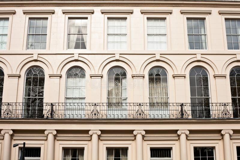 London regency buildings stock images