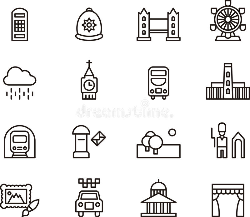 London related icons royalty free illustration