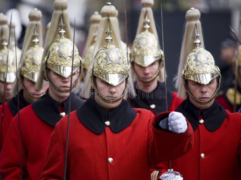 London - Rememberance Parade royalty free stock photo