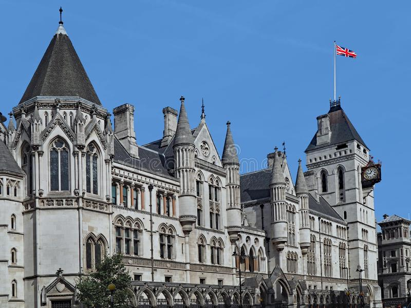 London, Royal Courts of Justice. In the Strand royalty free stock images