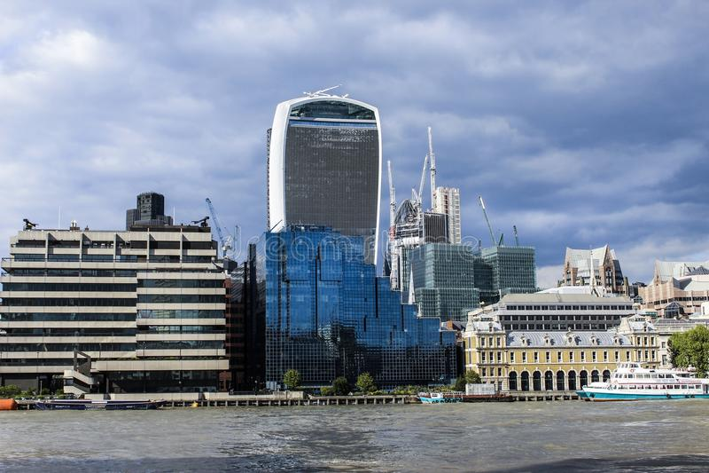 London& x27; s-byggnader royaltyfria foton
