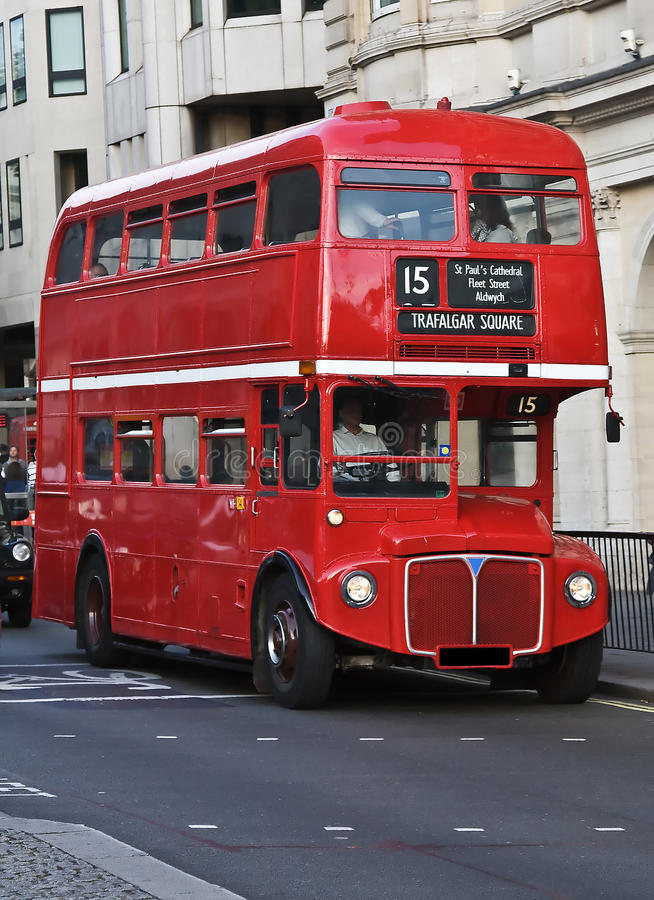 Download London's double decker stock image. Image of color, houses - 12810227