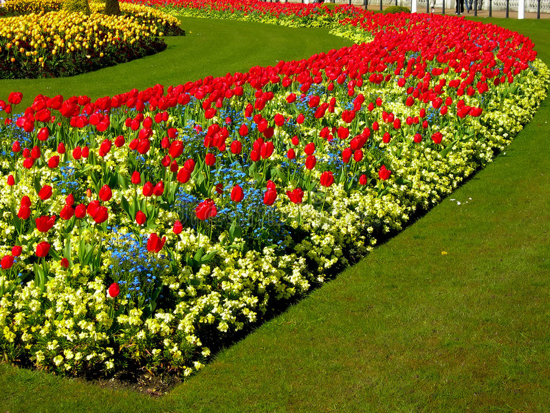 London's flowerbed royalty free stock photo