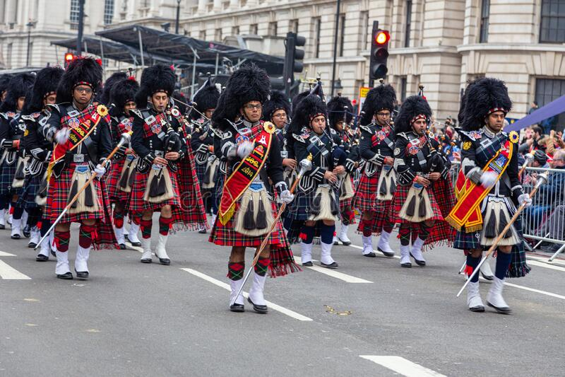 London`s New Year`s Day Parade 2020. LONDON, UK - January 01, 2020: London`s New Year`s Day Parade 2020 stock images