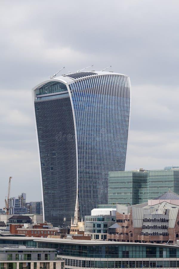 London-` s Primärfinanzbezirk, Stadt von London, moderne Bürogebäude, London, Vereinigtes Königreich lizenzfreies stockfoto