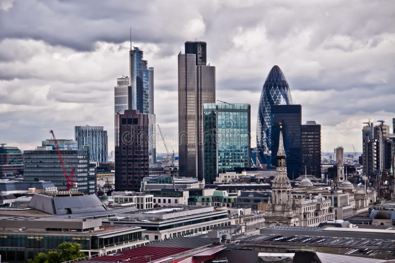 London scyscrapers royaltyfria foton