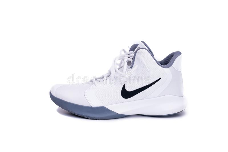 Modern Nike Mid-High Basketball Shoes stock images