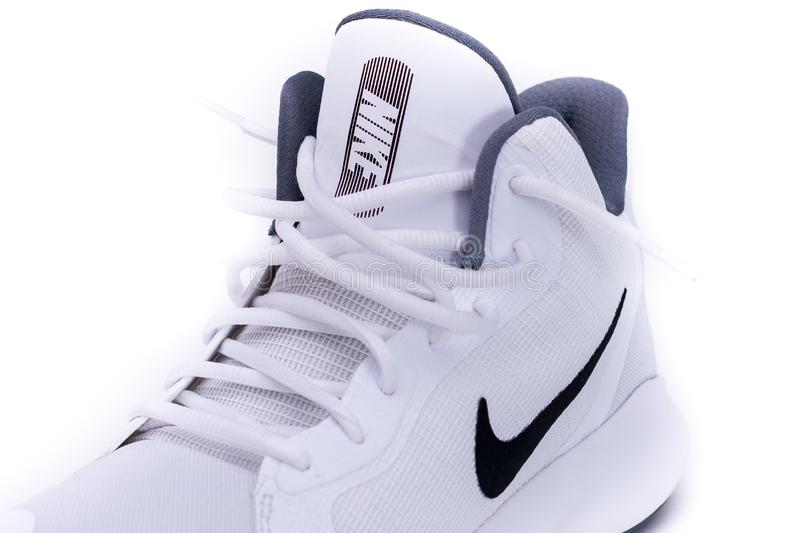 Modern Nike Mid-High Basketball Shoes stock photos