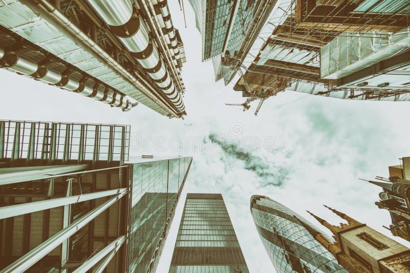LONDON - 26. SEPTEMBER 2016: Gen Himmel Ansicht von modernen Gebäuden von lizenzfreies stockbild