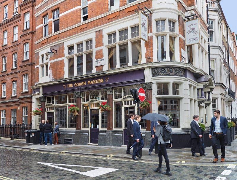 London pub stock image