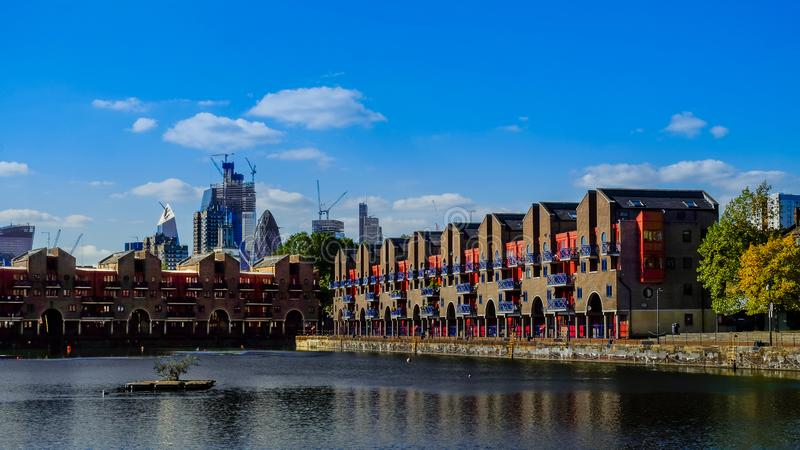 London-Shadwell Basin royalty free stock photo