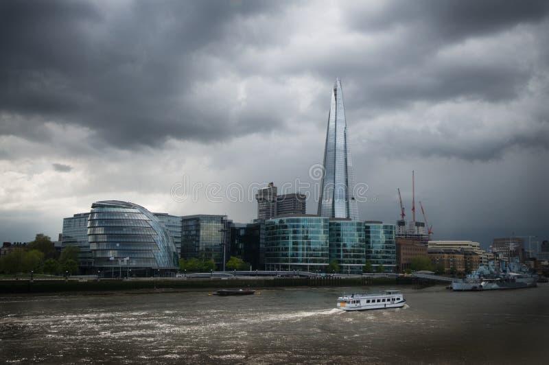 London Shard And City Hall Stock Photography