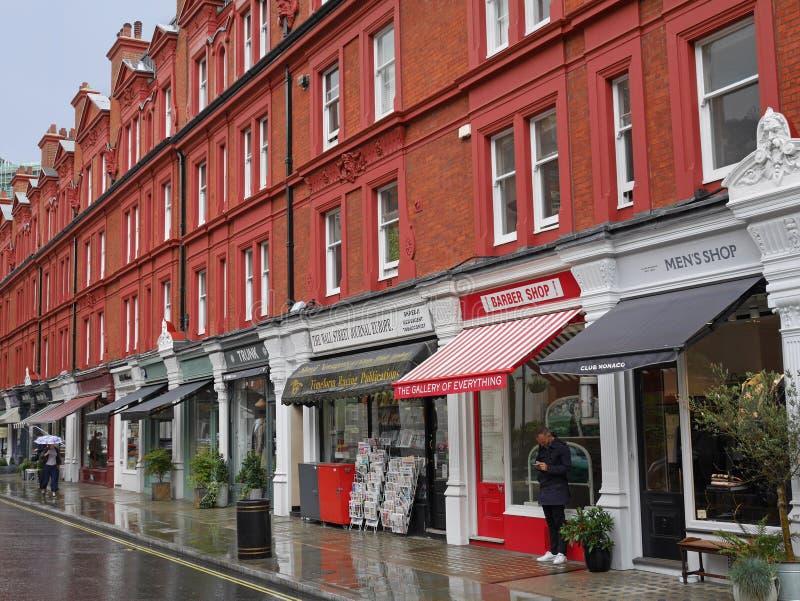 London shops royalty free stock photo