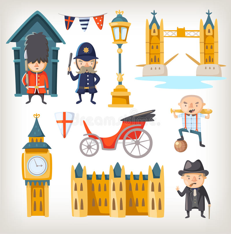 London sights and people royalty free illustration