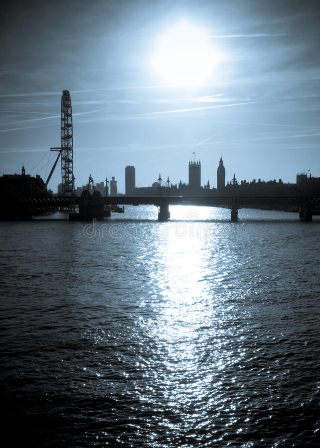 london silhouette royaltyfria foton