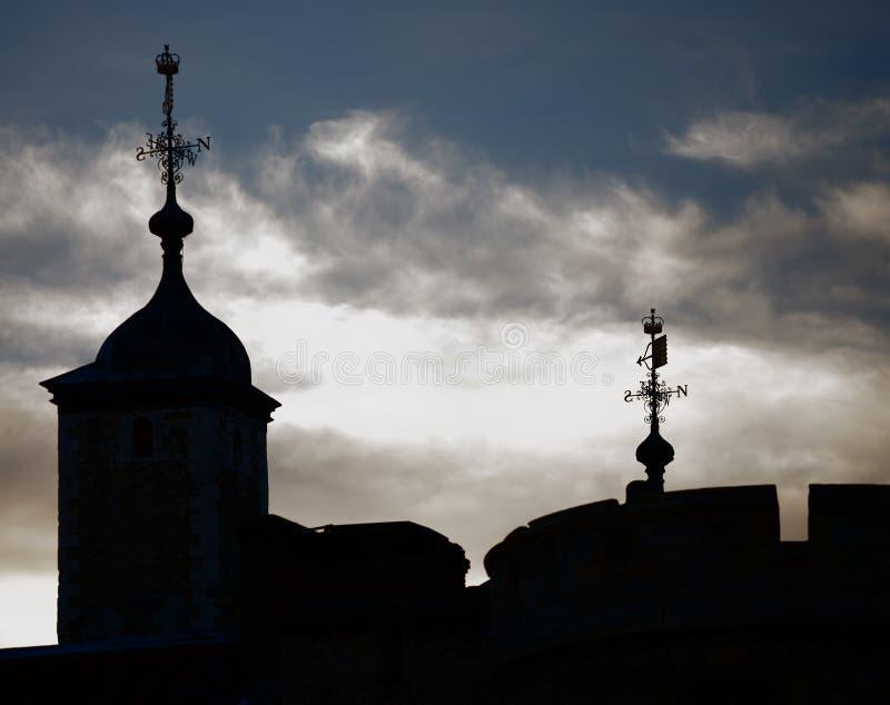 london silhouetted башня стоковое фото rf