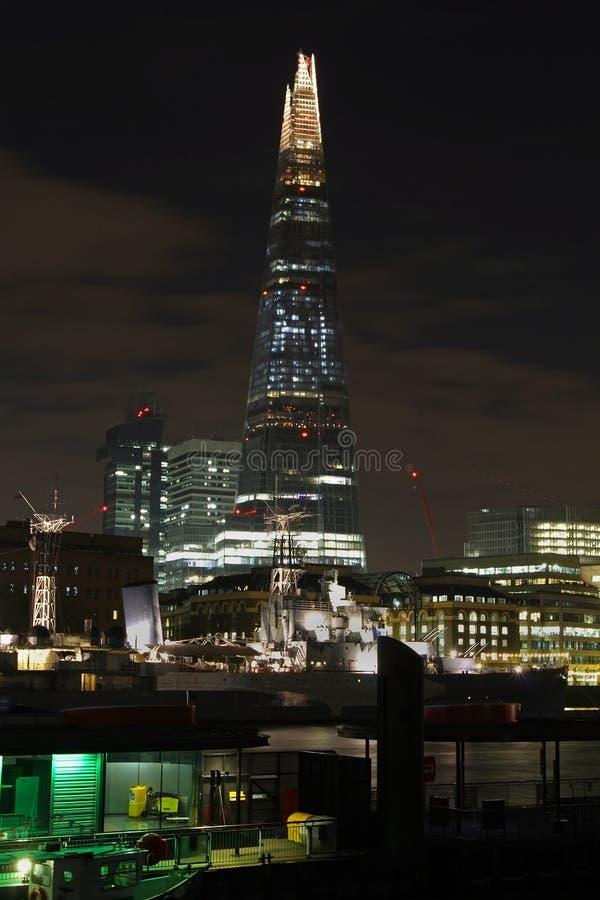 London skärvanatt royaltyfria bilder
