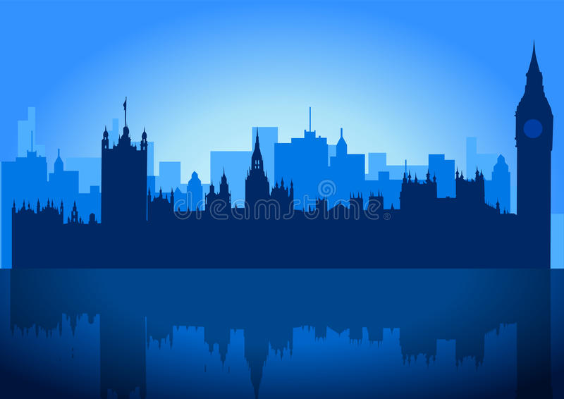 London-Skyline stock abbildung