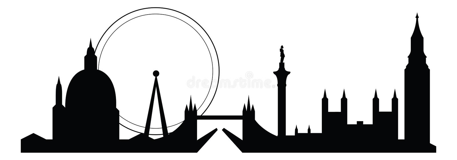 Download London skyline stock vector. Image of parliament, isolated - 18721885
