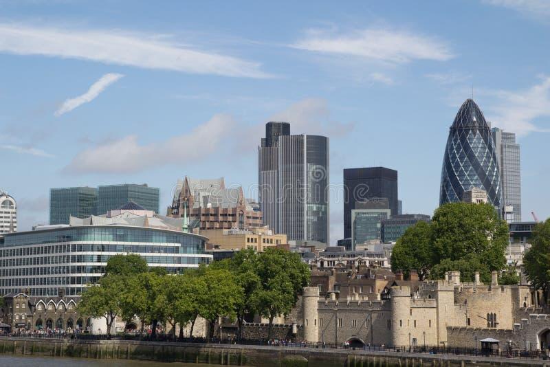 London Skyline. From the Tower Bridge