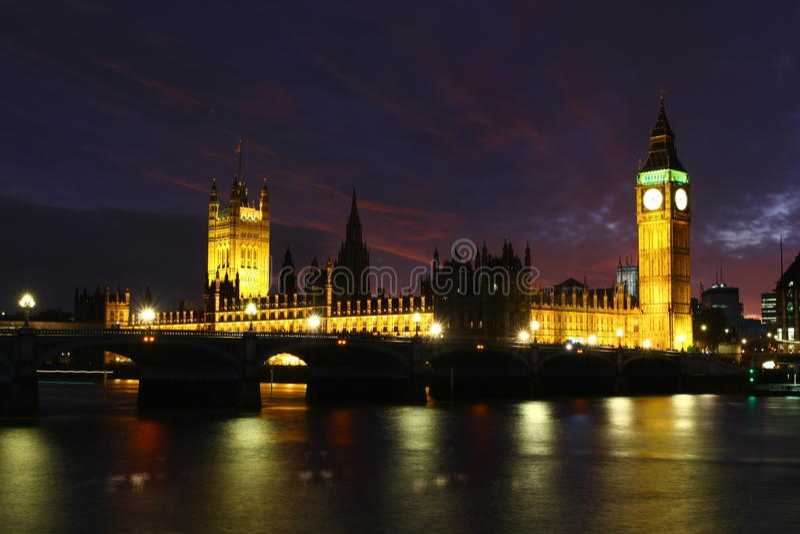 London Skyline and Big Ben, England
