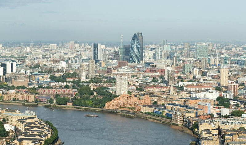 Download London Skyline From Canary Wharf Royalty Free Stock Photo - Image: 6579445