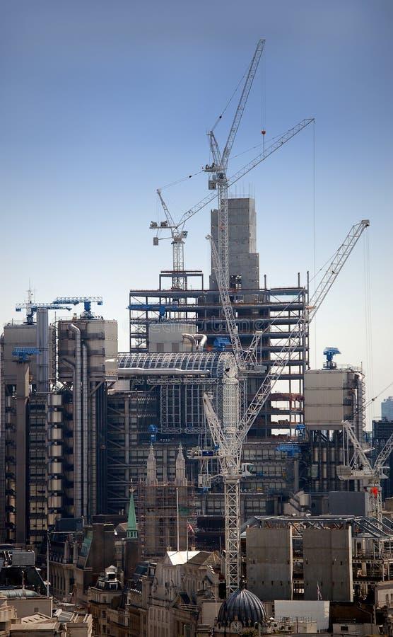 London Skyline Construction. London skyline and urban construction stock photo