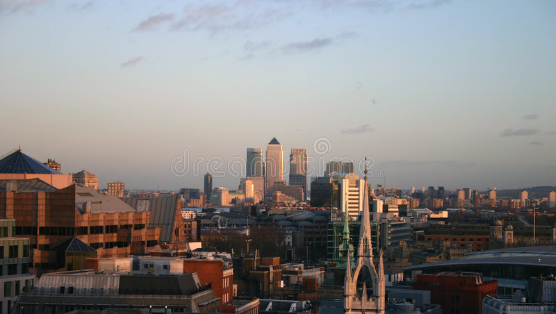 Download London Skyline Looking To Canary Warf Stock Photo - Image: 809642