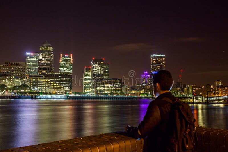 London skyline at night stock photo