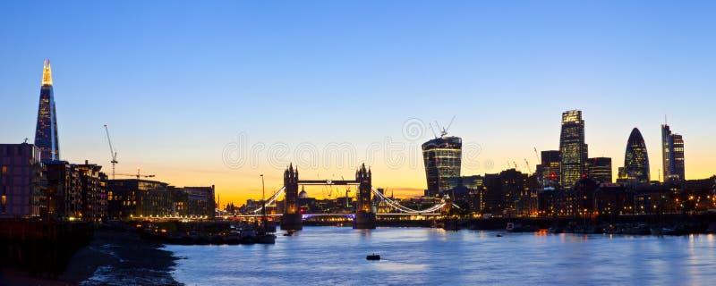 London-Skyline panoramisch lizenzfreies stockbild