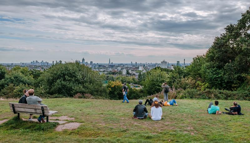 London skyline from Parliament Hill. stock images