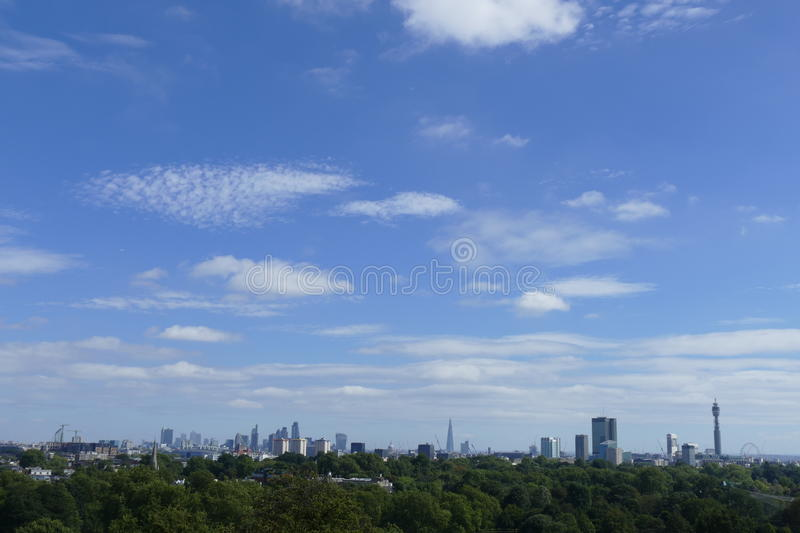 London Skyline from Primrose Hill royalty free stock images