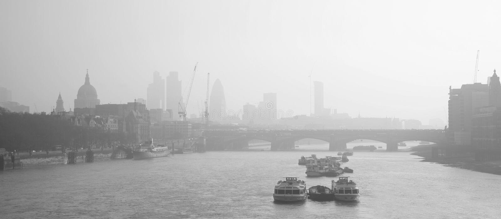 Download London Skyline Seen From Waterloo Bridge Stock Image - Image: 26839091